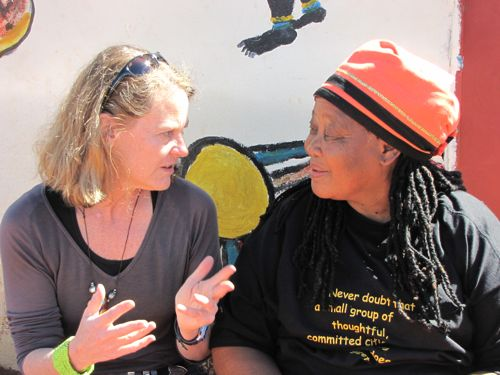 Traditional healer and midwife Virginia Rathele and Voices for Biodiversity founder Tara Waters Lumpkin share stories